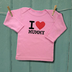 I Heart Mummy Baby Lapneck - valentines gifts for children