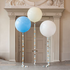 Baby Boy Giant Circle Tail Balloon - baby shower gifts & ideas