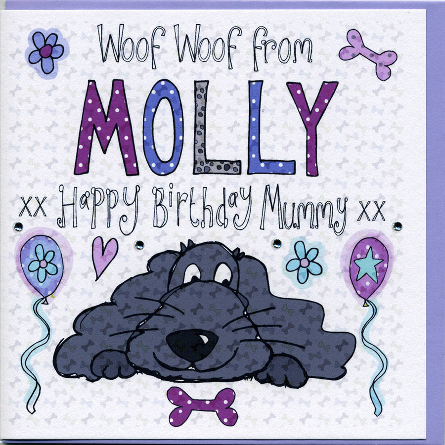 Personalised Birthday Card From The Dog By Claire Sowden Design