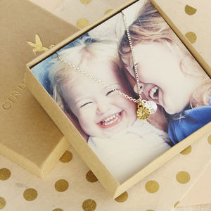 Charm Necklace With Personalised Photo Card - gifts for her