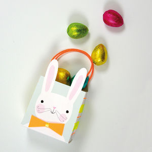 Set Of Eight Bunny Bags - easter egg hunt