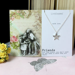 'Friends' Silver Star Necklace