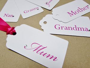Pack Of Two Mother Or Grandmother Tags