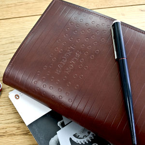 A Luxury Leather Diary And Journal Sleeve - writing