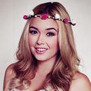 Hot Pink Rose and Pearl Headband