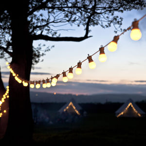 Warm White Connectable Festoon Lights - christmas lighting