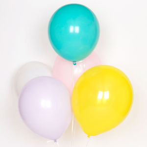 Pack Of 10 Pastel Balloons - room decorations