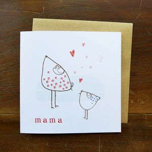 'Mama' Card - mother's day cards