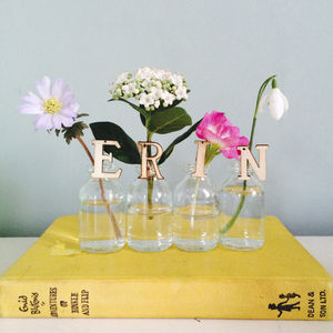Personalised Mini Vase Name Flowers - vases