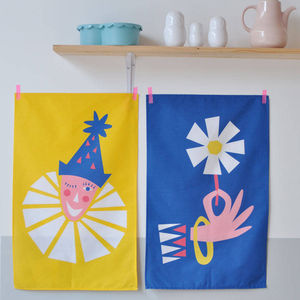 Set Of Two Circus Tea Towels In Gift Box - view all sale items