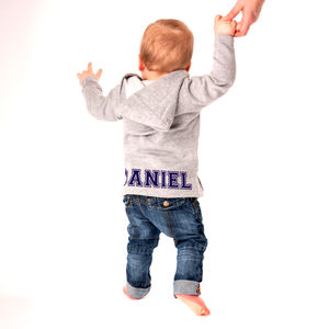 Personalised Baby's Name Hooded Jacket - clothing