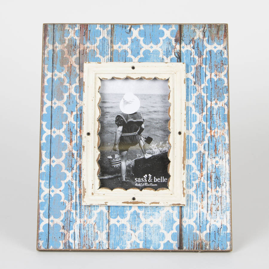 Moroccan Blue Photo Frame