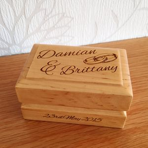 Personalised Wedding Ring Box - storage