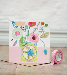 Birthday Blooms Greetings Card