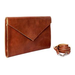Envelope Leather Clutch Bag - bags & purses