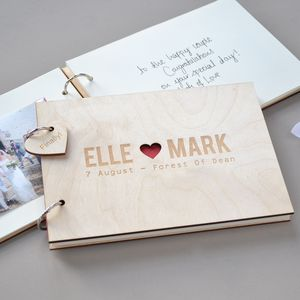 Personalised Couples Wedding Guest Book - albums & guestbooks