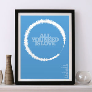 All You Need Is Love Limited Edition Soundwave Print