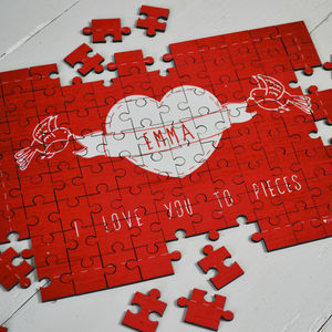 Personalised 'I Love You To Pieces' Jigsaw - interests & hobbies