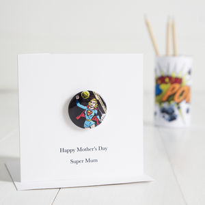 Personalised Super Hero Mother's Day Card - personalised cards