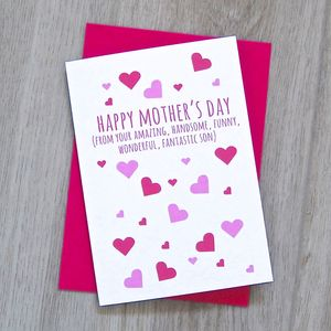 Happy Mother's Day From Your Wonderful Child Card