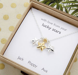 Personalised Lucky Stars Necklace - jewellery