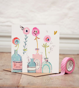 Scented Bottles Greetings Card