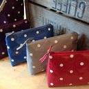 Oilcloth Makeup Bag Dark Colours