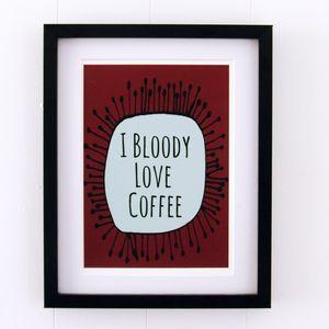 'Coffee Love' Kitchen Print
