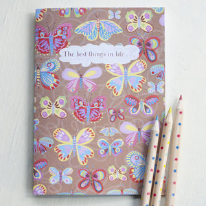 A5 Butterfly Notebook With 36 Blank Pages