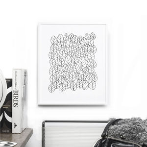 Winter Leaf Print - less ordinary wall art