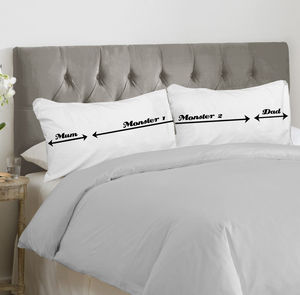 Personalised Bed Hogger Pillowcases For Parents