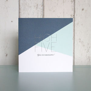 High Five Card - new job cards