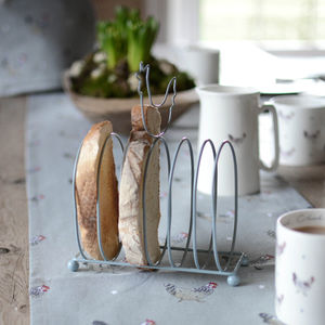 Chicken Wire Toast Rack - dining room
