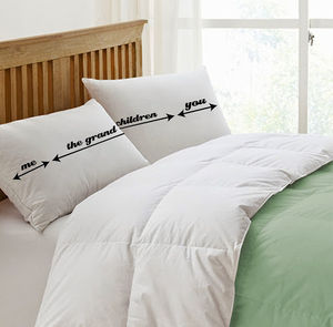 Personalised Arrow Pillowcases For Grandparents - bedroom