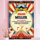 Vintage Style Circus Family Name Print Personalised
