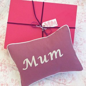 Handmade 'Mum' Gift Wrapped Cushion