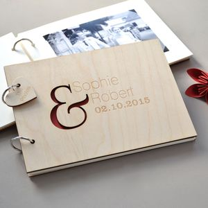 Personalised Ampersand Guest Book - guest books