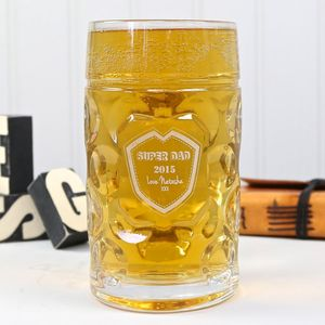 Personalised Engraved Giant Two Pint Beer Stein - glassware