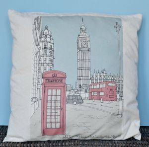 Personalised Cushion Cities Of The World