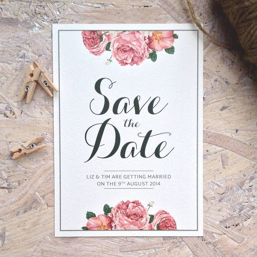 wedding invitations save the date uk - 28 images - summer blossom ...