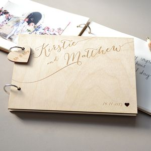 Personalised Calligraphy Guest Book - albums & guest books