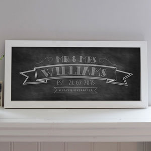 Chalkboard Wedding Print