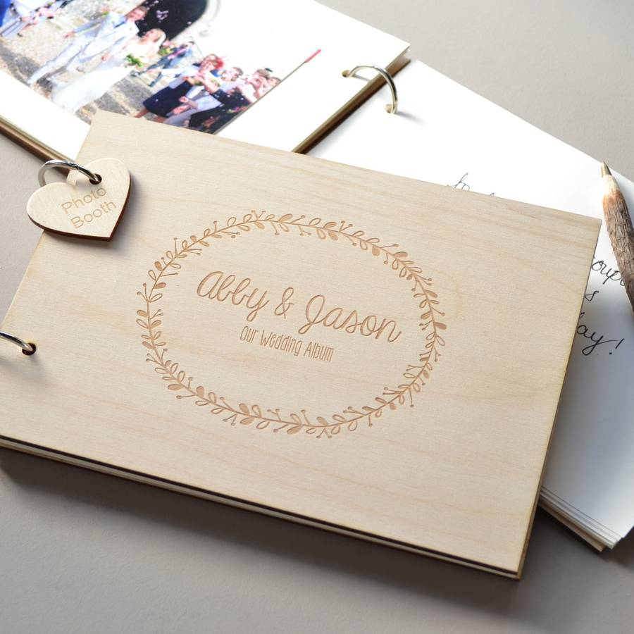 Personalised Wreath Wedding Guest Book By Clouds And Curs Notonthehighstreet