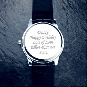 Personalised Cologne Gent's Watch - men's accessories