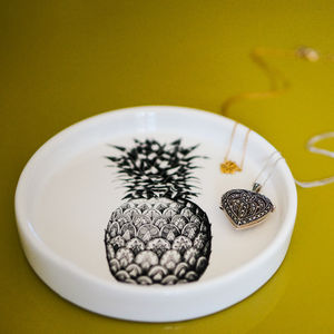 Pineapple Trinket Dish - jewellery storage & trinket boxes