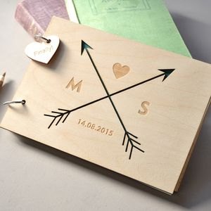 Personalised Arrows Guest Book - albums & guestbooks