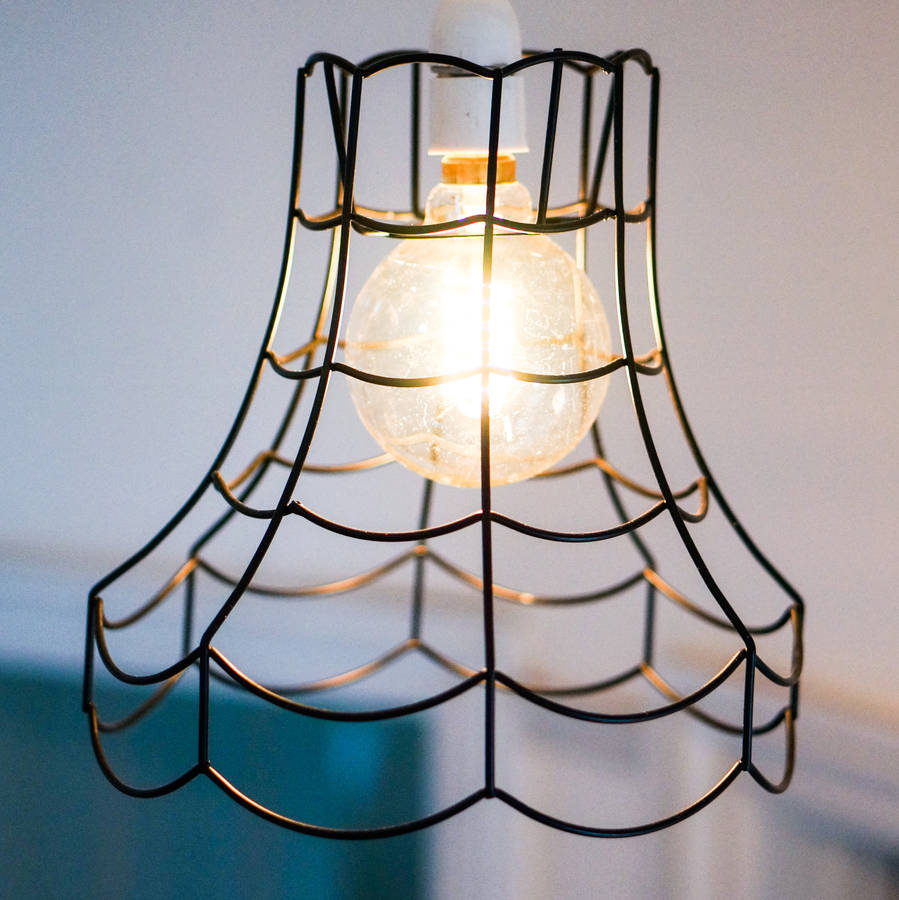 Vintage Wire Pendant Light Shade By Frolic And Cheer