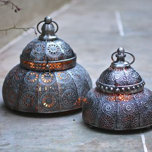 Marrakech Hinged Lid Lantern - less ordinary garden ideas