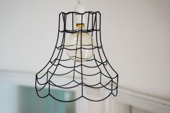 Vintage Wire Pendant Light Shade