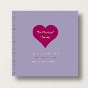 Personalised Mum's Keepsake Album